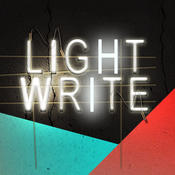 Light Write - photo editor featuring cool neon fonts and glowing light streaks light accounting