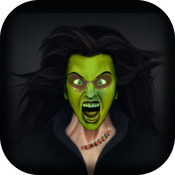 A Halloween Witches Photo Booth Maker - Scary Picture Makeover w/ Skeleton & Corpse
