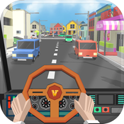 City Tourist Bus Driver - Endless Driving Duty in Blocky World Roads