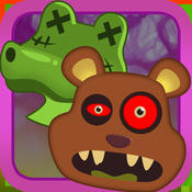 Bubble Zombie Animal Safari Shooter