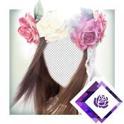 Bridal Flower Wedding Headband Photo Montage Pro