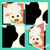 Free Play with Farm Animals Cartoon Memo Game for toddlers and preschoolers