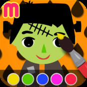 Monster Coloring Book - painting app for kids - learn how to paint funny halloween creature