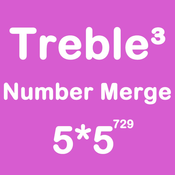 Number Merge Treble 5X5 - Sliding Number Block And Playing The Piano