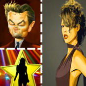 Word Pic Celebrity Quiz - name famous celebrities trivia featuring top film stars & tv icons
