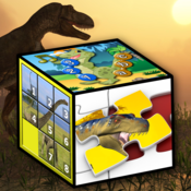 Kids dinosaur puzzles and number games - teaches young children the alphabet, counting and jigsaw shapes