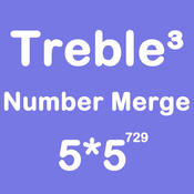 Number Merge Treble 5X5 - Playing With Piano Music And Merging Number Tiles