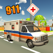 911 Emergency Ambulance Simulator - Rescue Patients in Time & Test Your Driving and Parking Skills manage your time