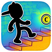 Stickman Stairs - Let Him Jump and Dismount