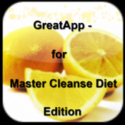 GreatApp - for Master Cleanse Diet Edition:The Master Cleanse and the Lemonade Diet+ camedia master 2 0