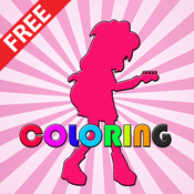 Paint Coloring Kids Game Equestria Girls Version coloring