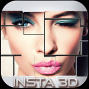 Insta3D Free - Unique idea with 2D Photo Grid Frames Squaready, 3D Layouter instasize for Instagram, Photo editor with effects