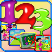 123 All In One Numbers Fun - The Best Educational Balloons Numbers Learning Games Collection point numbers