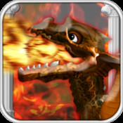 Ultra Speedy Dragon Heroes: The Underworld Empire Wages War! - Breathe Fireball Projectile in this Free Addicting Game