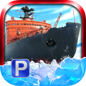 `Arctic Boat Parking Free - Real Ice Breaker Ship Driving & Simulation Sailing Games