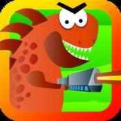 Mega Dino Wars Free - Crush Angry Tiny Dinosaurs!