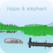 hippo & elephant