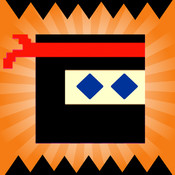 10A Ninja : Flappy Bouncy Ninja, Don`t touch the spikes,Make the red ninja stars rush over the black wall shadow.Go!Run! boots ninja