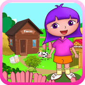 Anna`s animals farm house - free learning toddlers games farm ville
