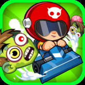 A Zombie Hill Speed Race : Temple Road Trip Racing Free hill climb racing