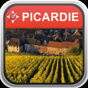 Offline Map Picardie, France (Golden Forge)
