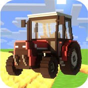 Blocky Farming Simulator Pro 2015 - Pocket Edition Tractor, Harvester, Truck Mini game agricultural societies