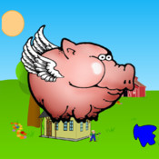 Pixie Pig - An Endless Tap Screen Flyer Game - A Pig that Swoops and Flys like a Bird