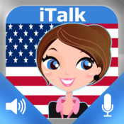 iTalk American English conversational: record and play, learn to speak fast, vocabulary expressions and tests for english speakers HD.