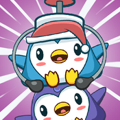 Penguin Tower: Bird Stack FREE - Build a pillar with penguins to reach the sky game penguins game