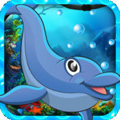 Jumping Dolphin World - Platform Hop Collecting Game Free