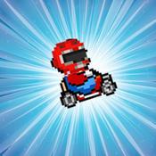 Pixel Cart Dash pixel people