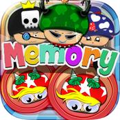 Memories Matching Mushroom land : Super Bros Puzzle Test Brain Games For Kids Free super