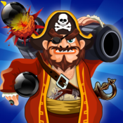 Pillage Pirates Defence: Pirate Ship Battle of Paradise Treasure Islands FREE