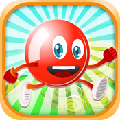 A Flick Red Ball Bloons - Kick the Frozen Snowflake Bubble Free