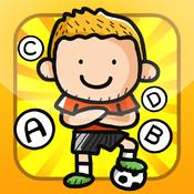 ABC Soccer learning game for children: Word spelling of the football world