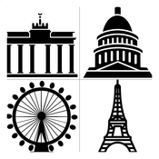 Capital City World Quiz - A General Education Game: From Berlin to London to New York to Singapore to Hong Kong and further