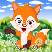 Aaron`s animals in forest and grassland puzzle game