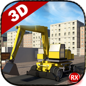 Road Construction Simulator - 3D Heavy Machines Excavator & Road Roller road
