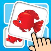 Fish memo card match 3D - Train your kids brain with lovely marine animals and explore deep ocean world