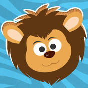 Play with Wild Animals Cartoons - The 1st Free Cartoon Jigsaw Game for a toddler and a whippersnapper