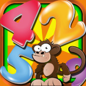 Ace Monkey Mayhem Puzzles Free - Math Numbers Crossword Games