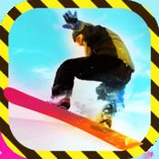 Crazy Tracks Snowboard - Free Slalom Slope Snowboarding Game