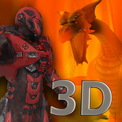 Red Dragon Robot Attack - An Epic 3D Arial battlefield apocalypse