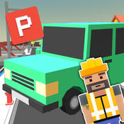 Blocky Car Parking Simulator 3D - Test your Parking & Driving Skills in Real Blocks City designed