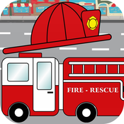 Fire Truck Sounds, Flashcards & Fireman Games For Toddler & Preschool Kids by Play N Learn Apps