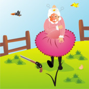 Mad Granny - Keep the wild angry birds from dropping their eggs on granny`s head, shoot them with paintballs mad birds pursuit