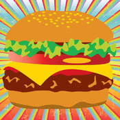 Classic Yummy Burger 2D - A Burger Quick Cooking Game, Funny, Cool, Simple, Cartoon Cooking Casual Gratis Game Apps for All Boys and Girls sky burger