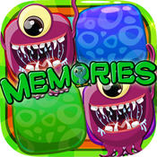 Memories Matching Alien : Preschool Games Educational For Kids Free
