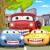 Auto Car Wash & Dentist Office - Vehicle Teeth Cleaning and Dental Care Games with Sponge