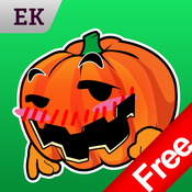 Emoji Kingdom 15 Free Pumpkin Halloween Emoticon Animated for iOS 8 emoticon sticker